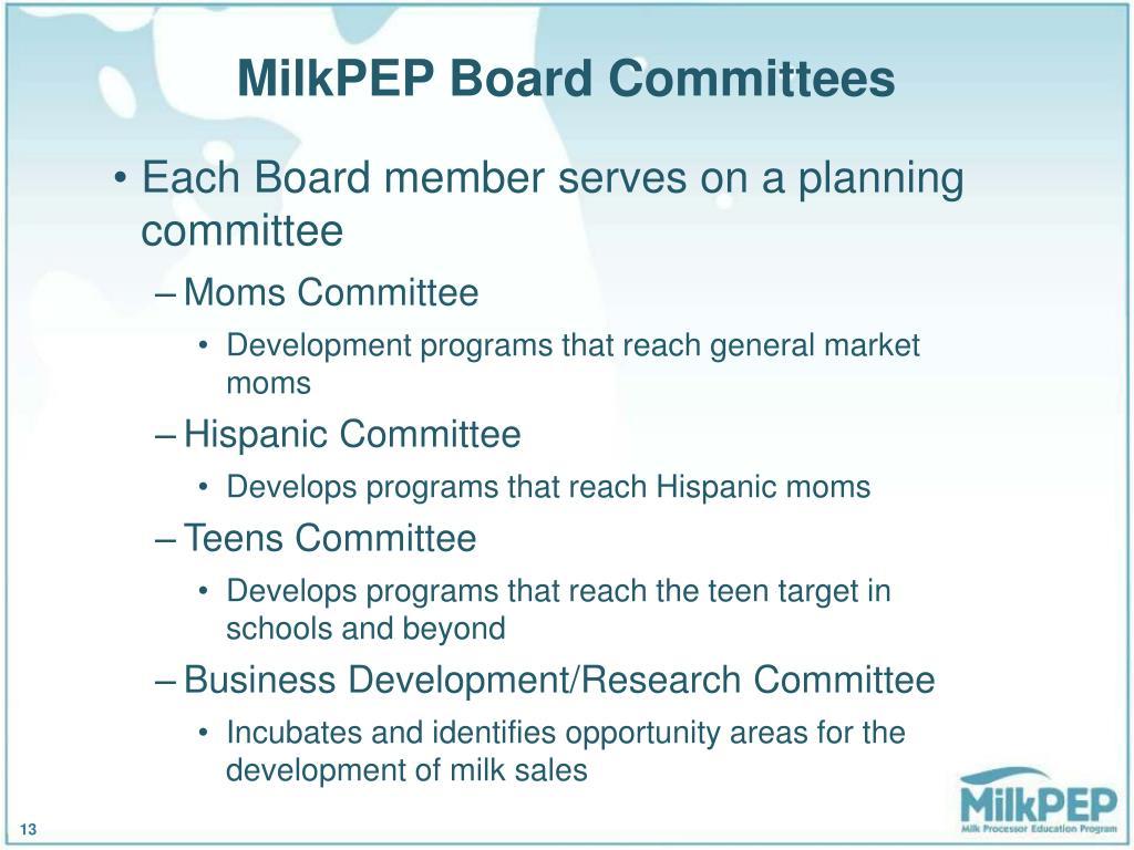 MilkPEP Board Committees