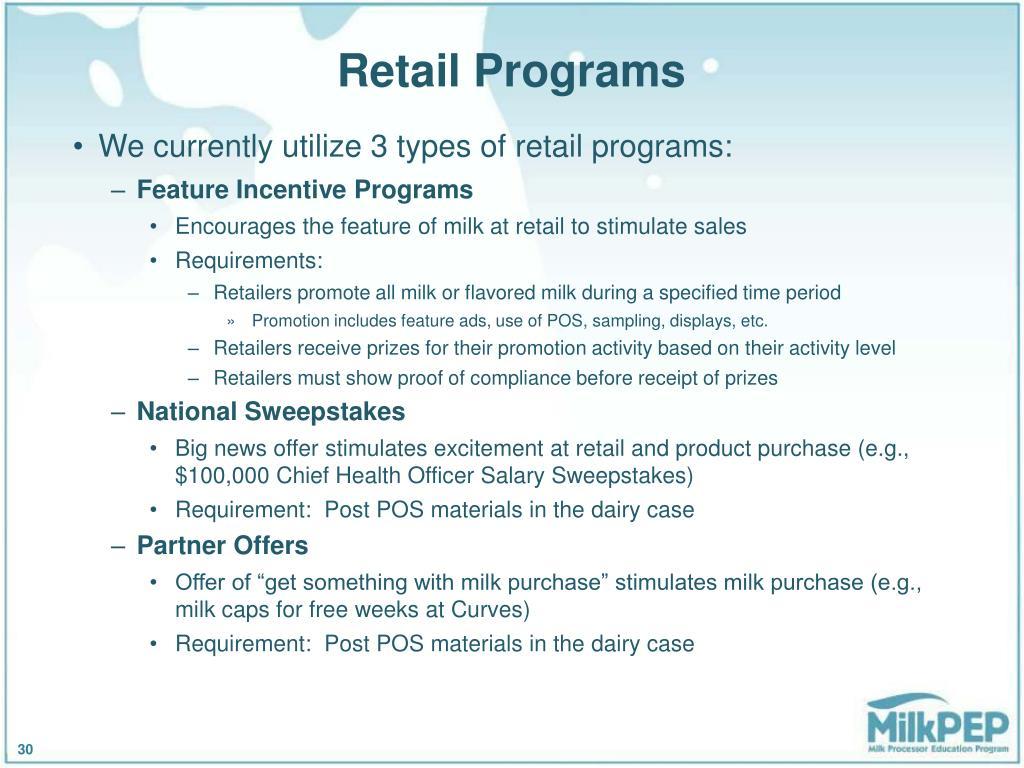Retail Programs