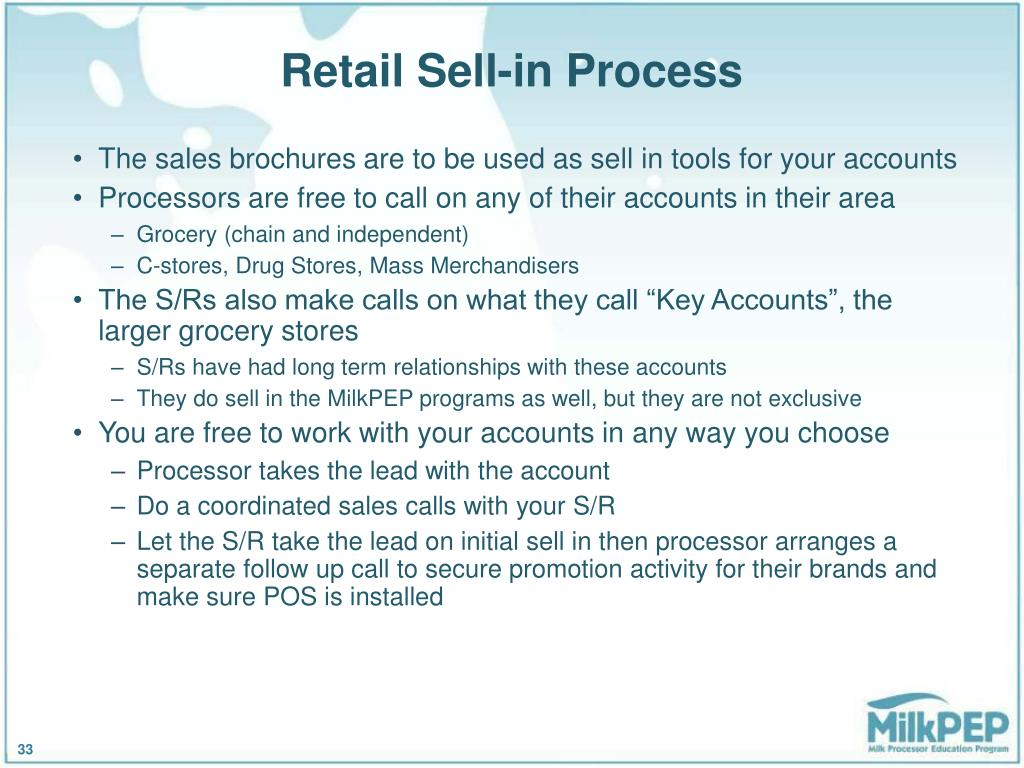 Retail Sell-in Process