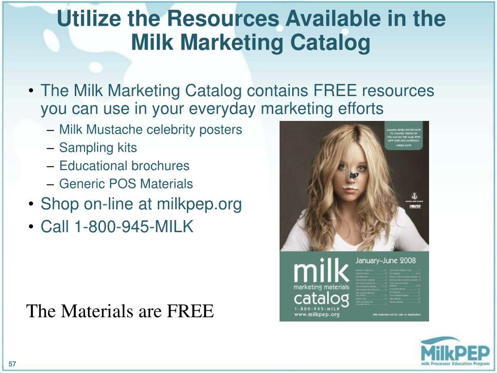 Utilize the Resources Available in the Milk Marketing Catalog