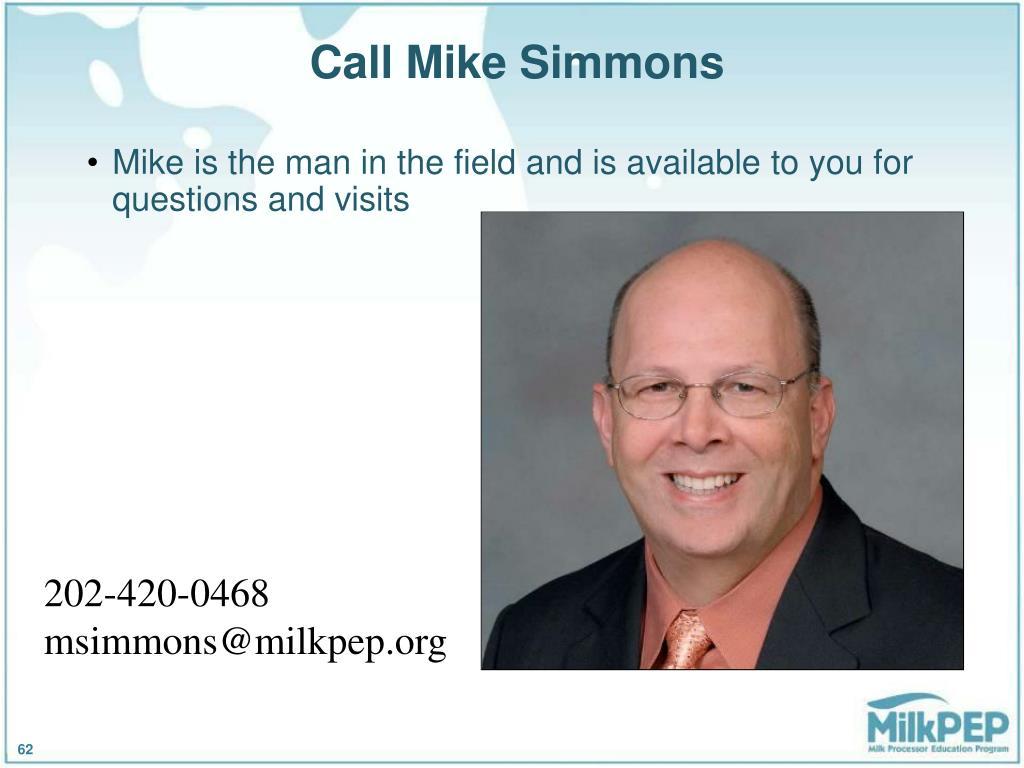 Call Mike Simmons