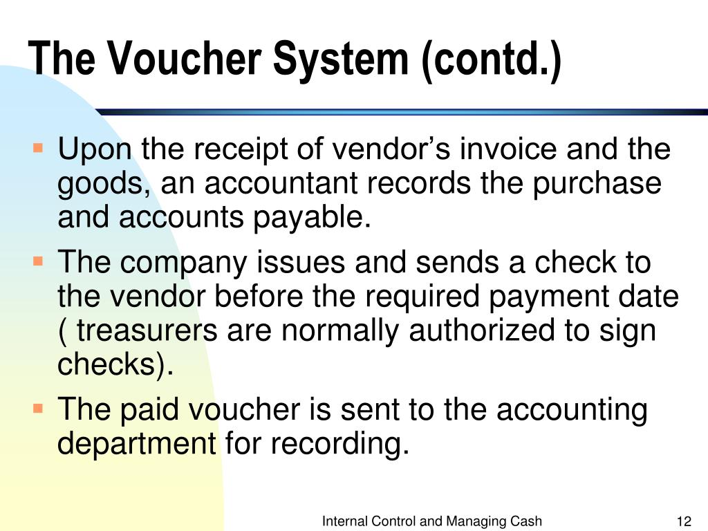 The Voucher System (contd.)