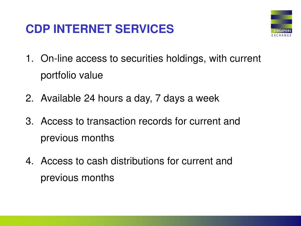 CDP INTERNET SERVICES
