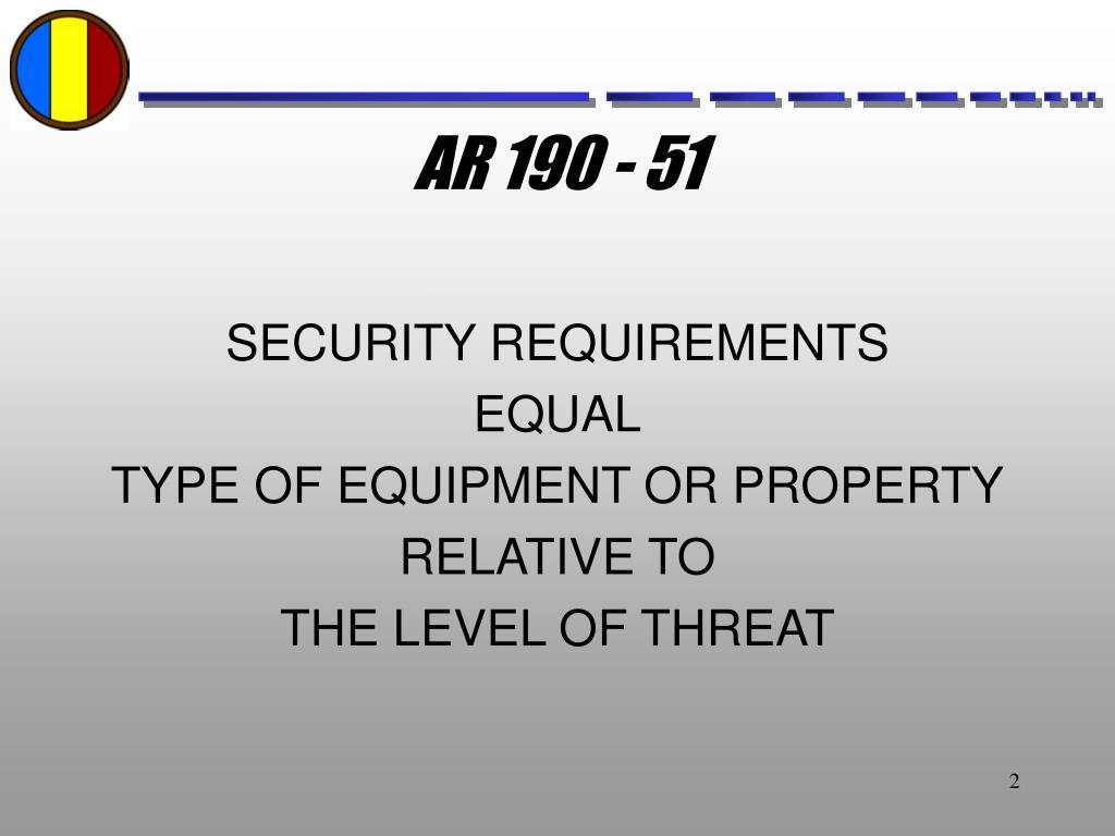 AR 190 - 51