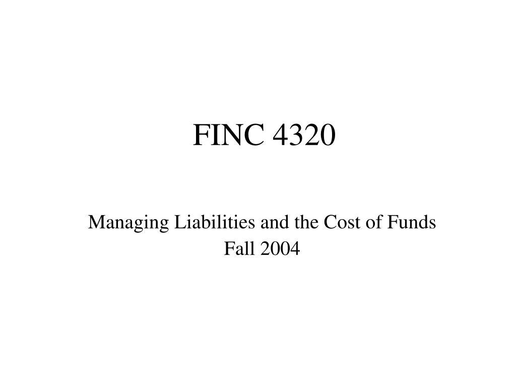 FINC 4320