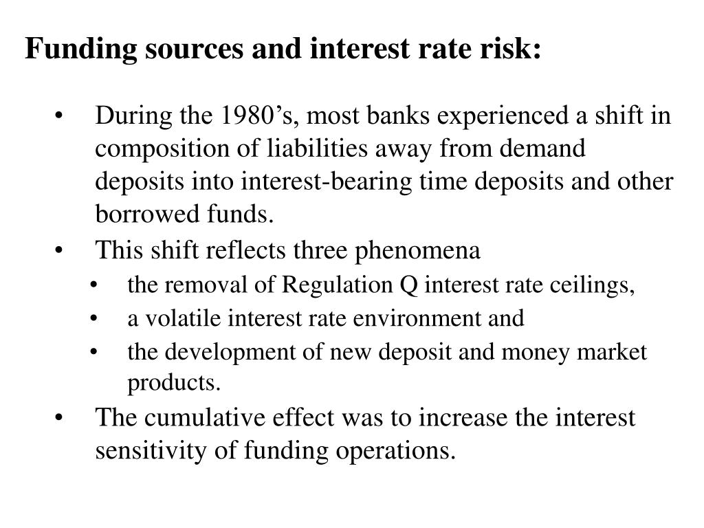 Funding sources and interest rate risk: