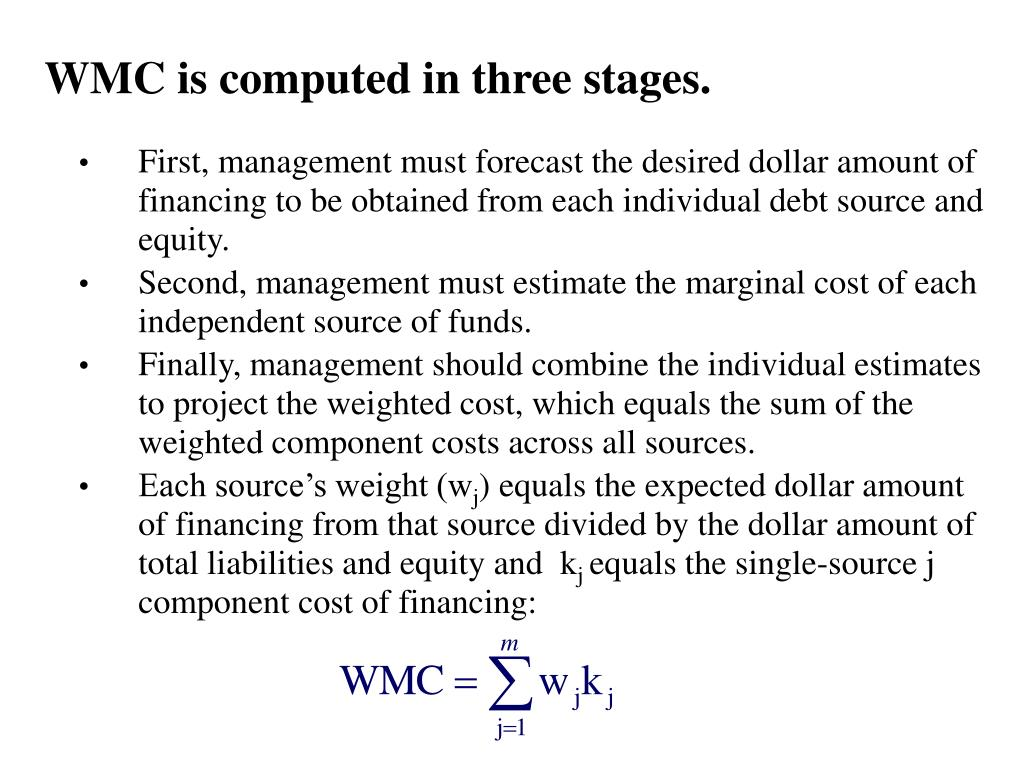 WMC is computed in three stages.