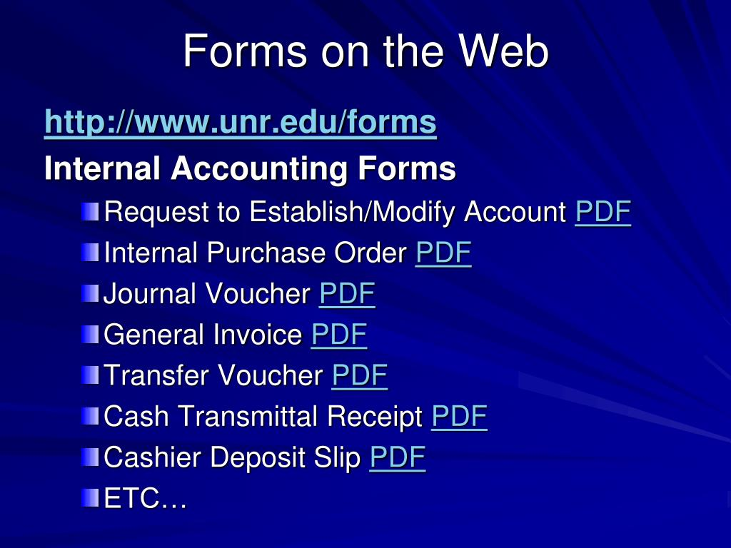Forms on the Web