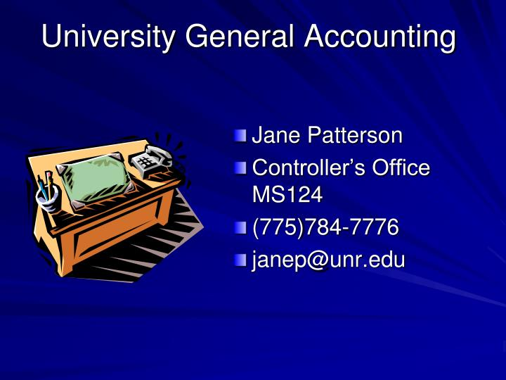 University general accounting