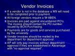 vendor invoices