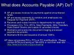 what does accounts payable ap do