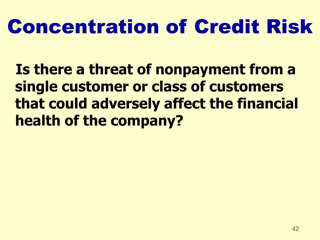 Concentration of Credit Risk