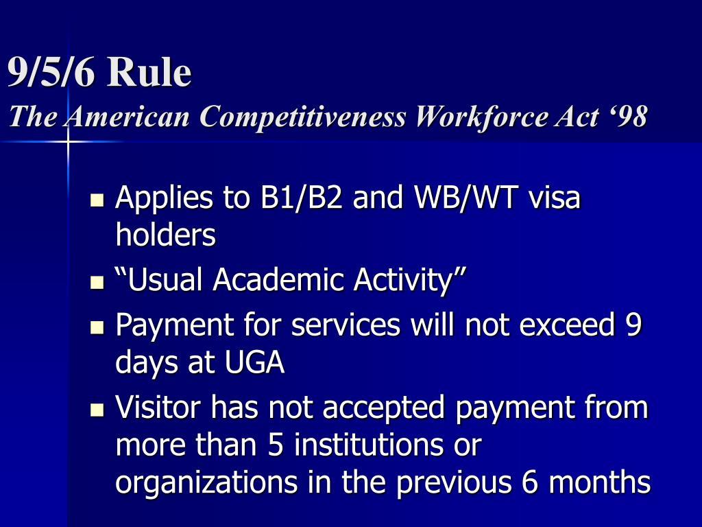 9/5/6 Rule