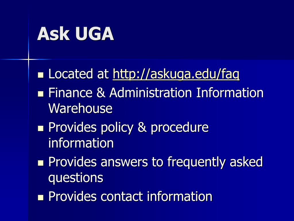 Ask UGA