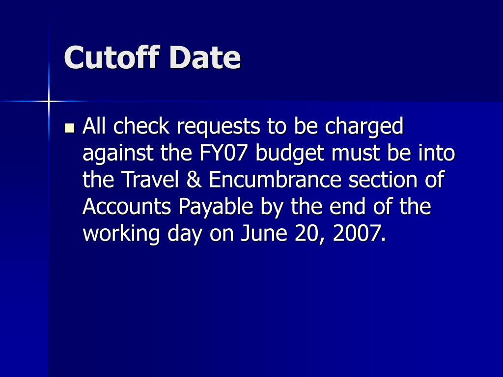Cutoff Date