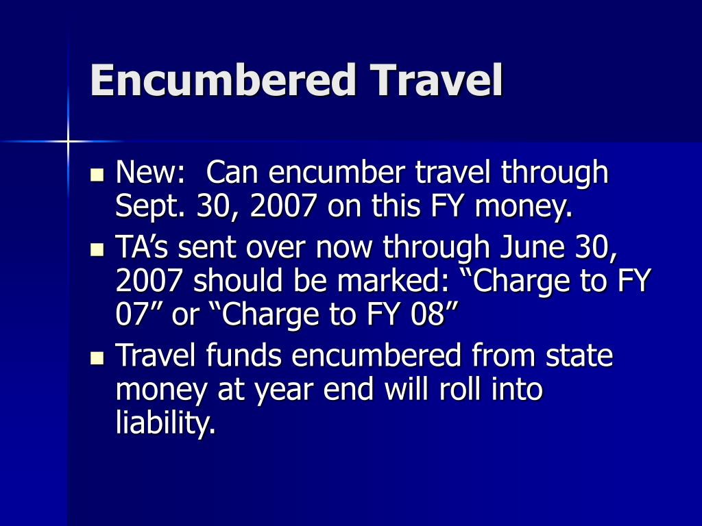 Encumbered Travel