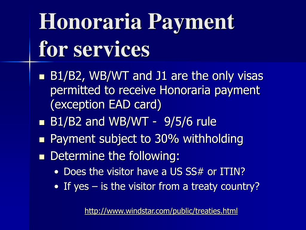 Honoraria Payment