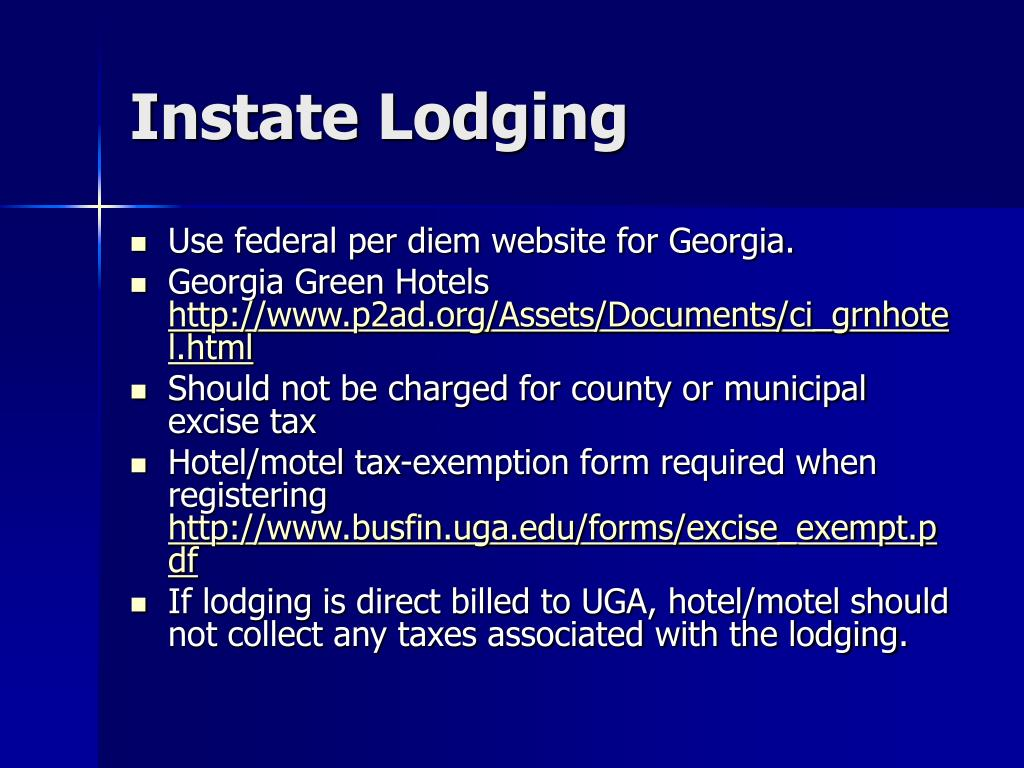 Instate Lodging
