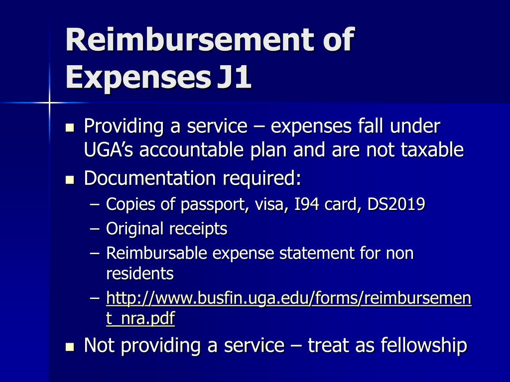 Reimbursement of ExpensesJ1