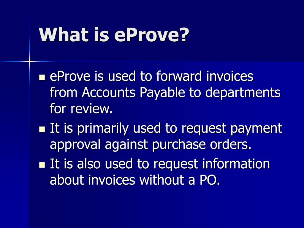 What is eProve?