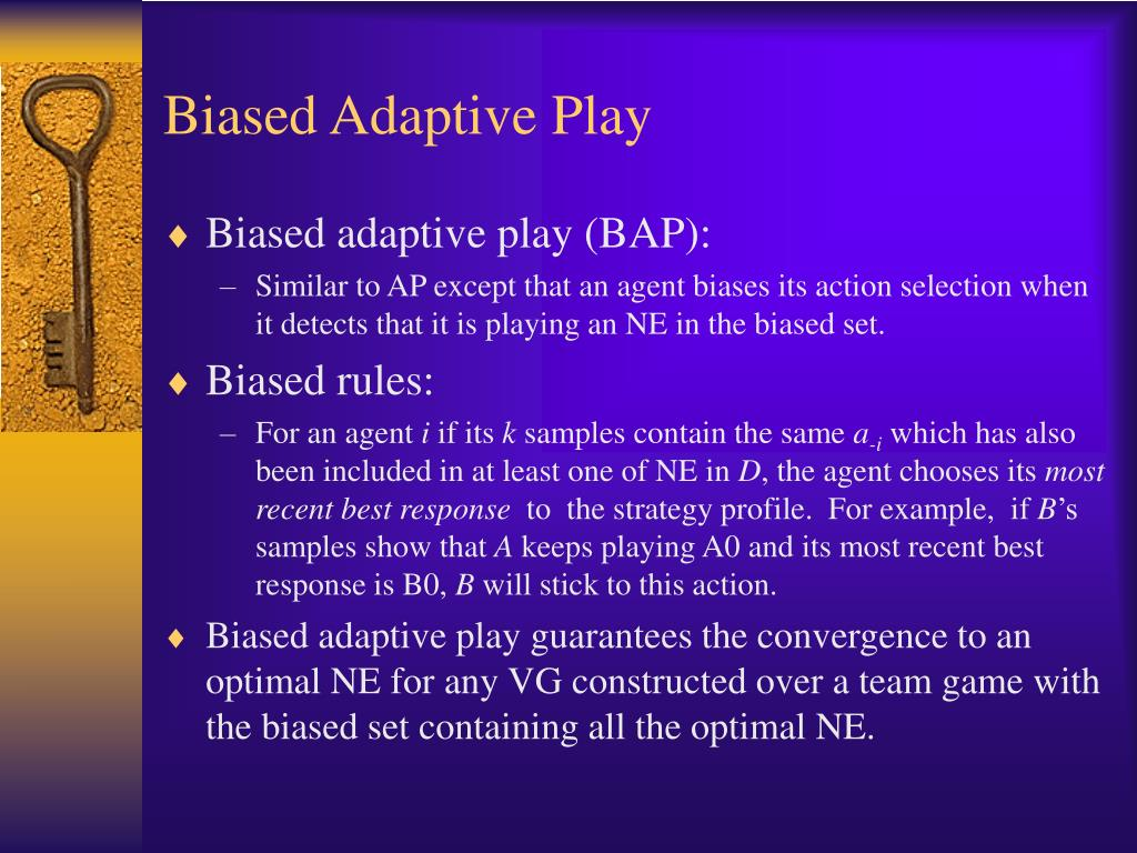 Biased Adaptive Play