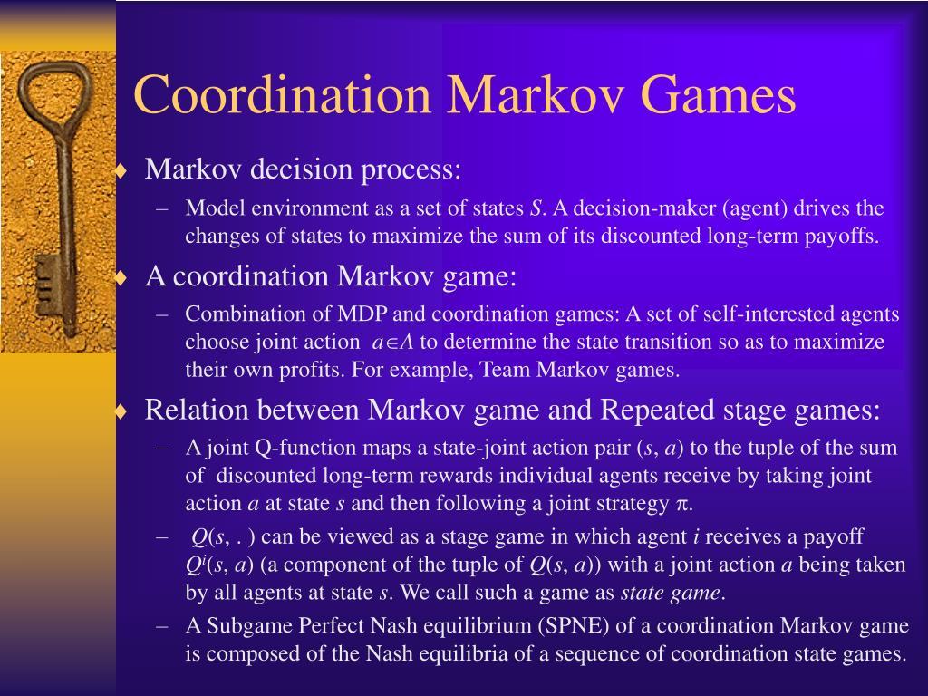 Coordination Markov Games