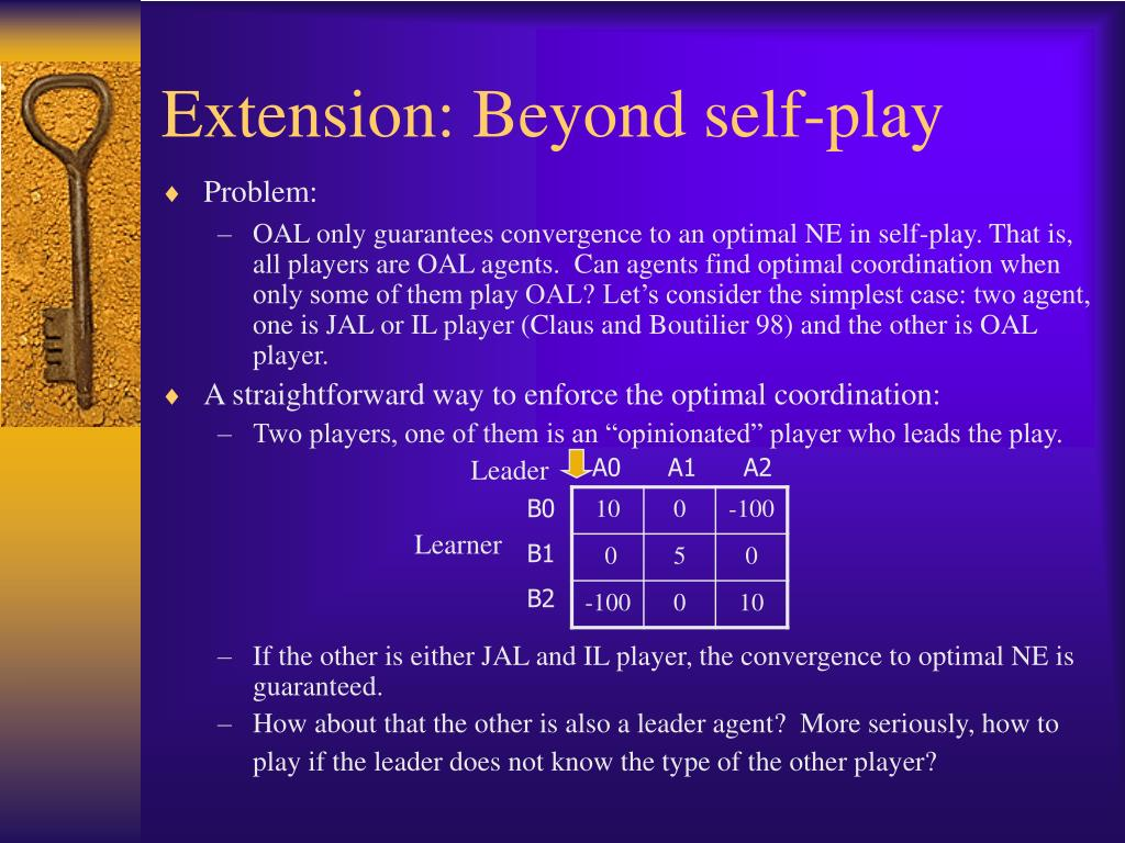 Extension: Beyond self-play