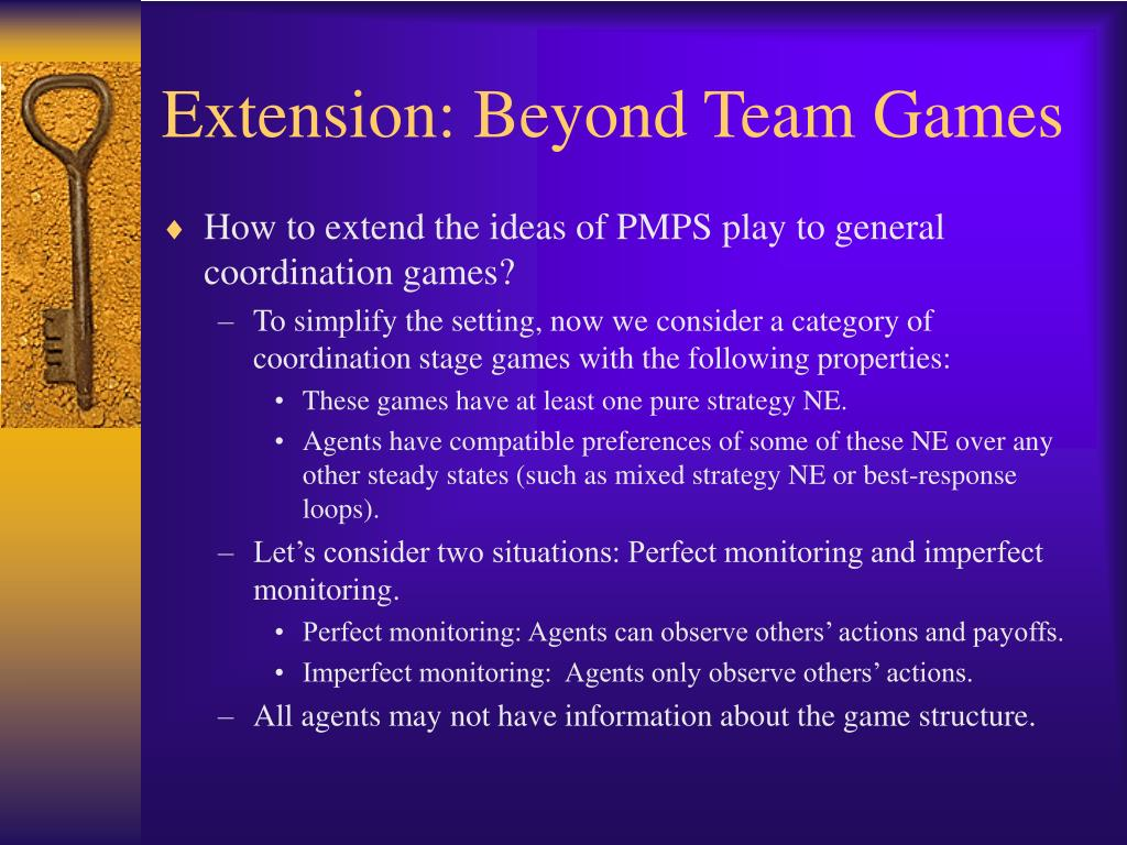 Extension: Beyond Team Games