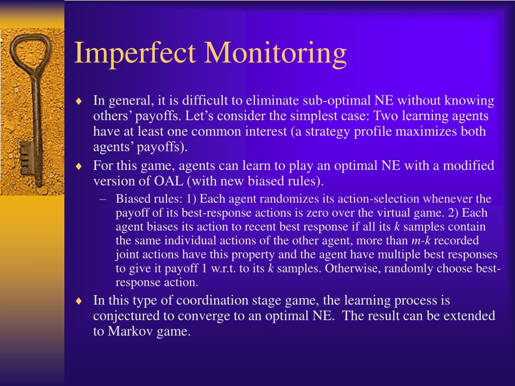 Imperfect Monitoring