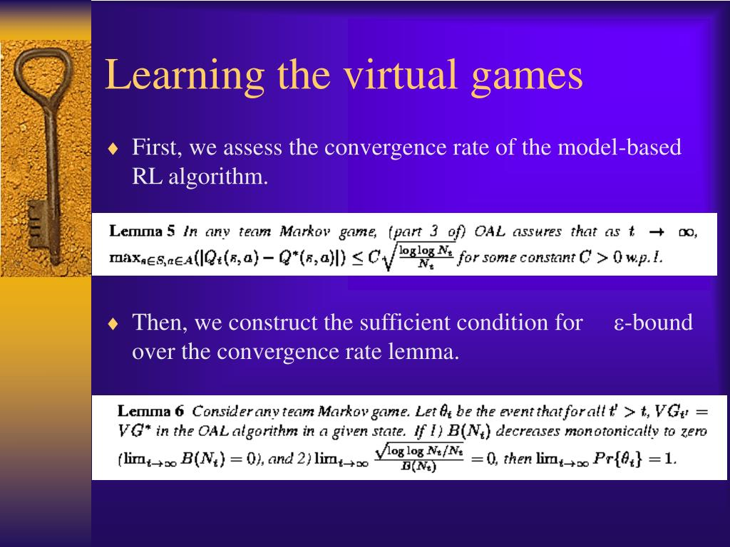 Learning the virtual games