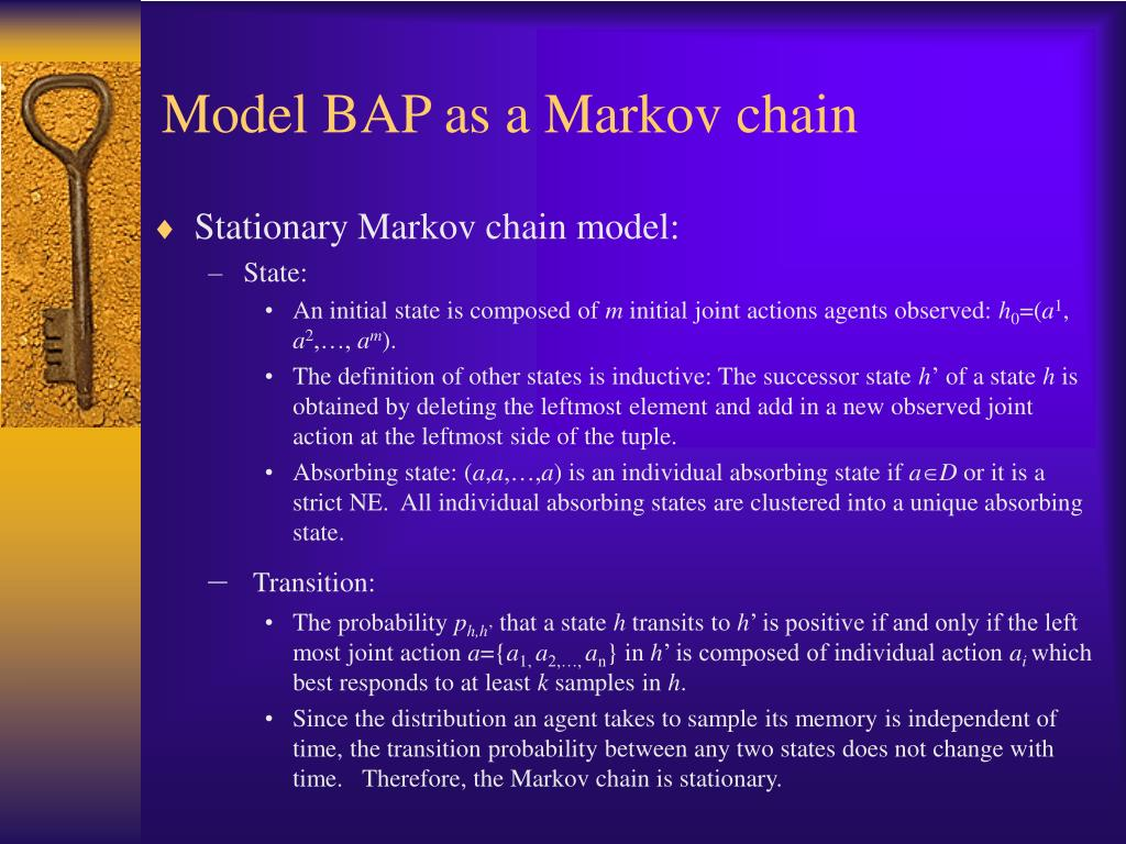 Model BAP as a Markov chain