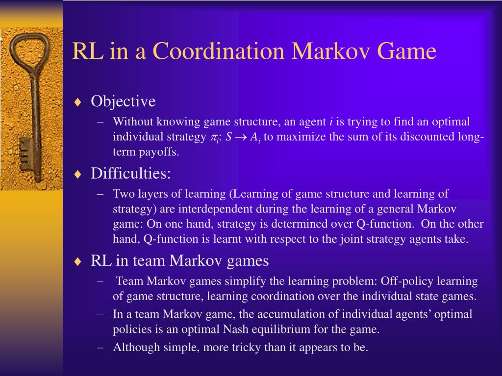 RL in a Coordination Markov Game