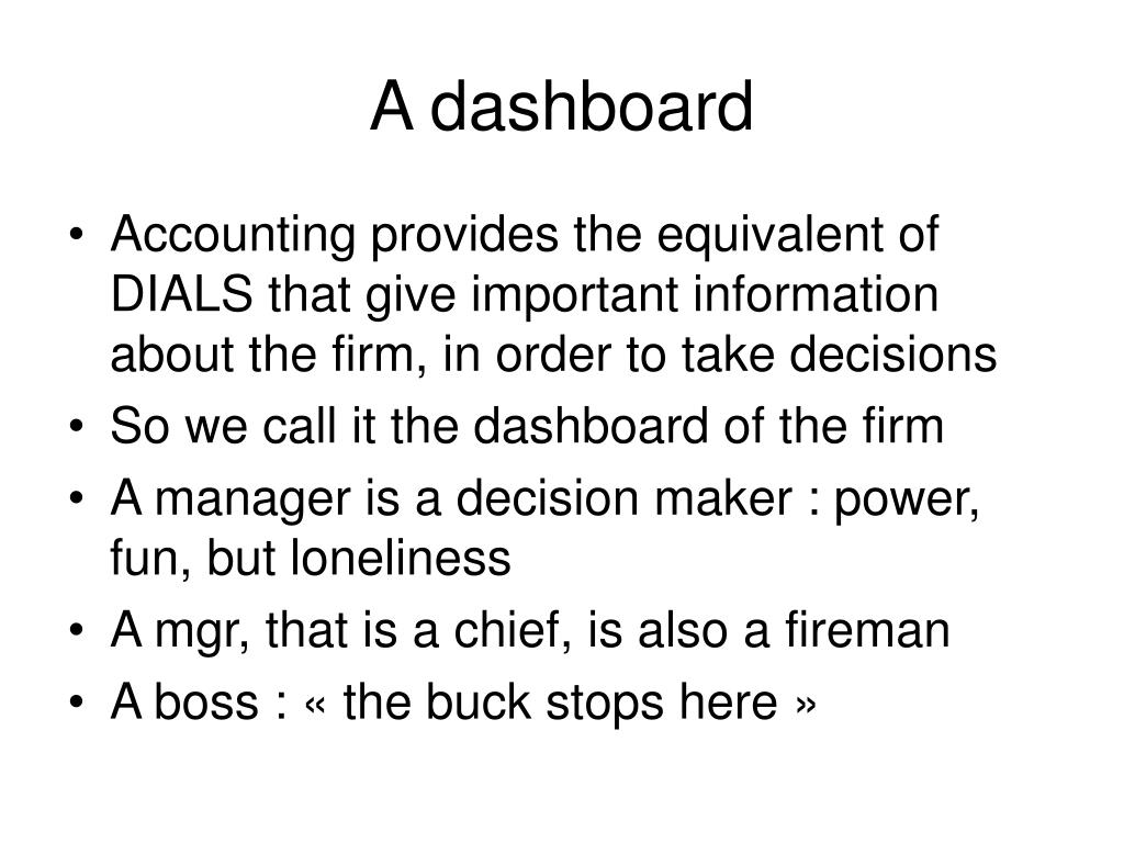 A dashboard