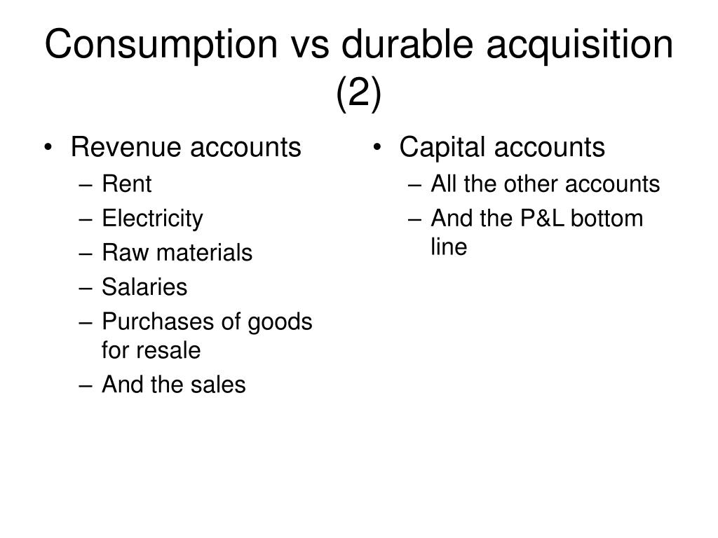 Revenue accounts