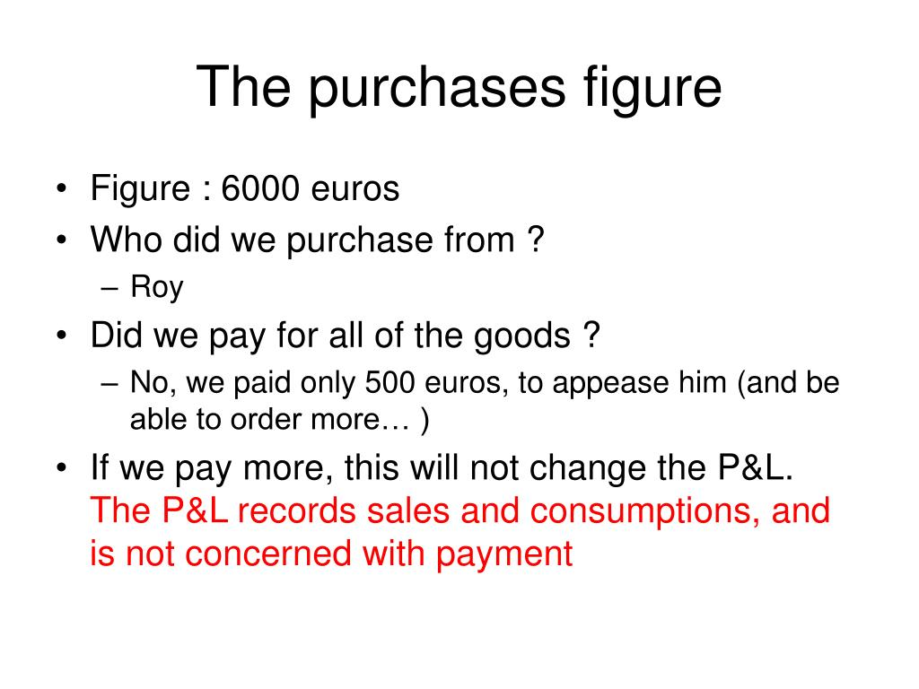 The purchases figure