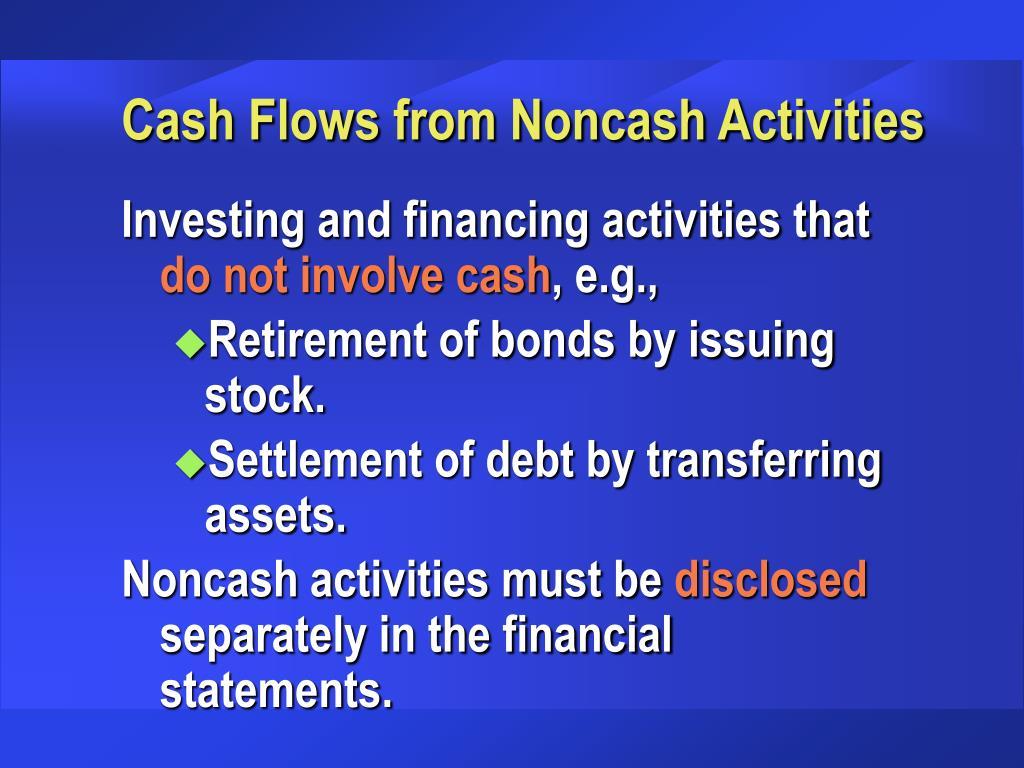 Cash Flows from Noncash Activities