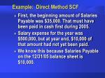 example direct method scf28