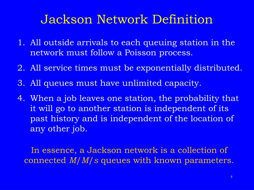 Jackson Network Definition