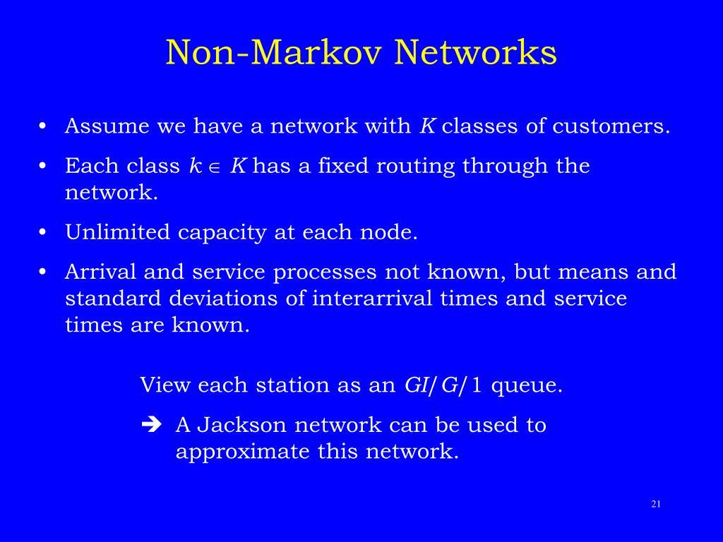 Non-Markov Networks