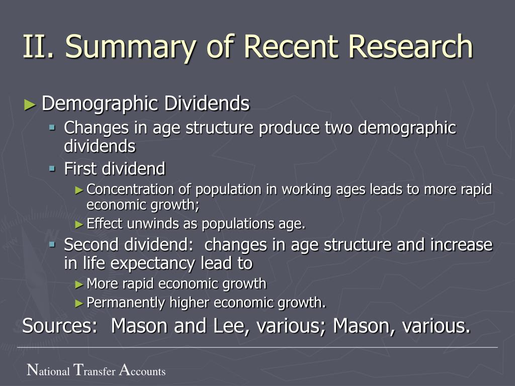 II. Summary of Recent Research