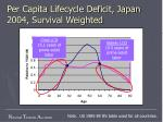 per capita lifecycle deficit japan 2004 survival weighted