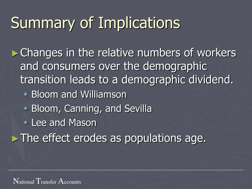 Summary of Implications