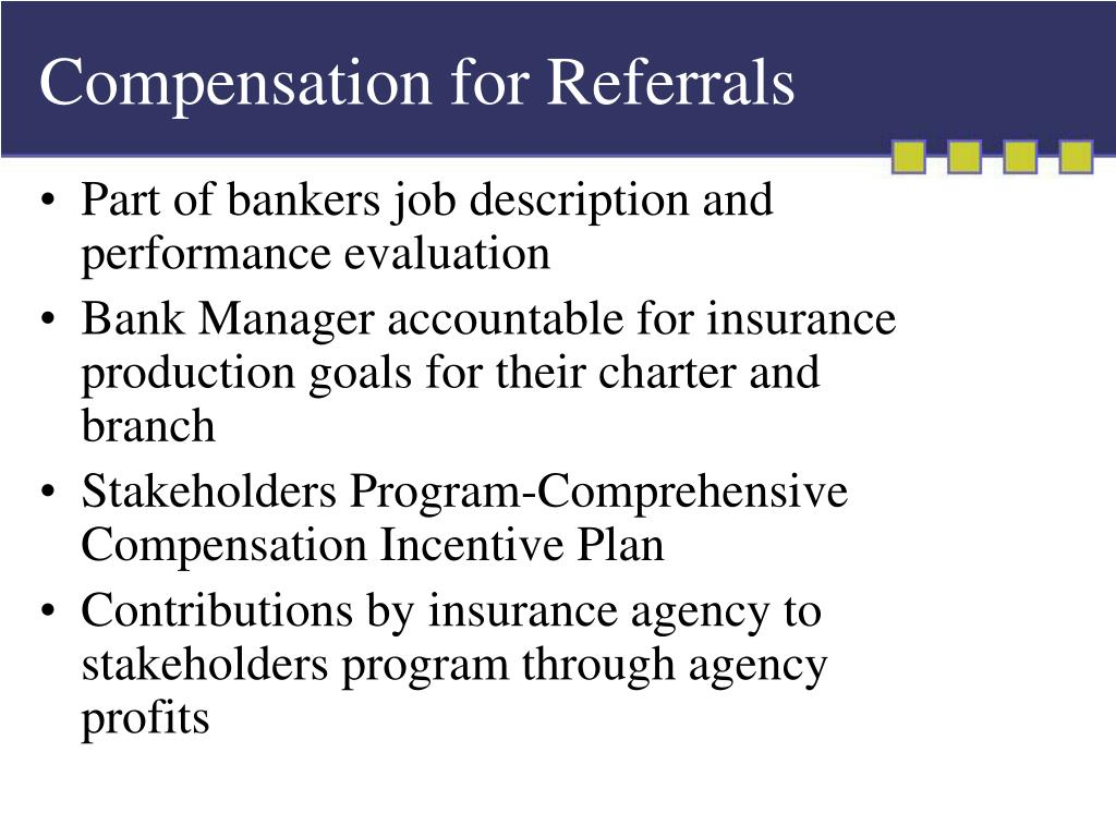 Compensation for Referrals