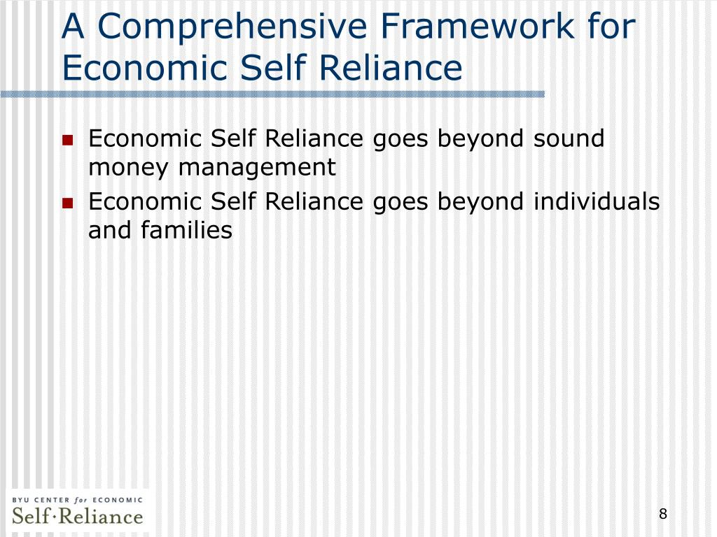 A Comprehensive Framework for Economic Self Reliance