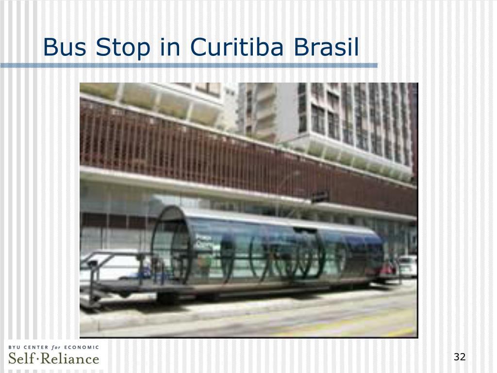 Bus Stop in Curitiba Brasil