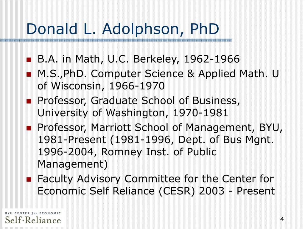 Donald L. Adolphson, PhD