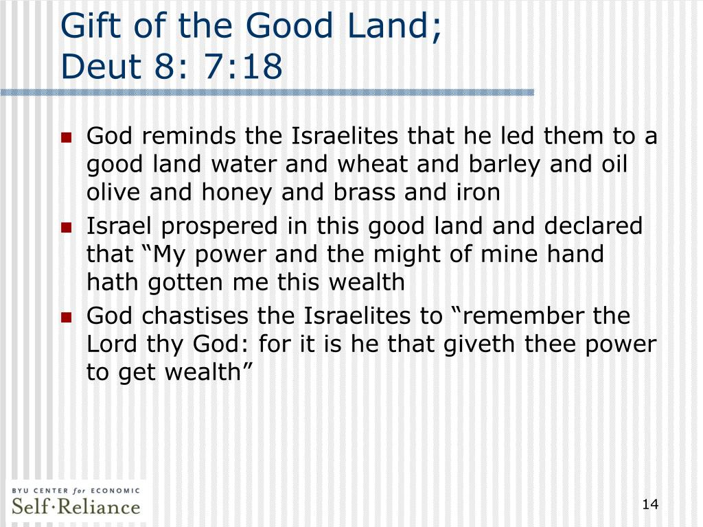 Gift of the Good Land;