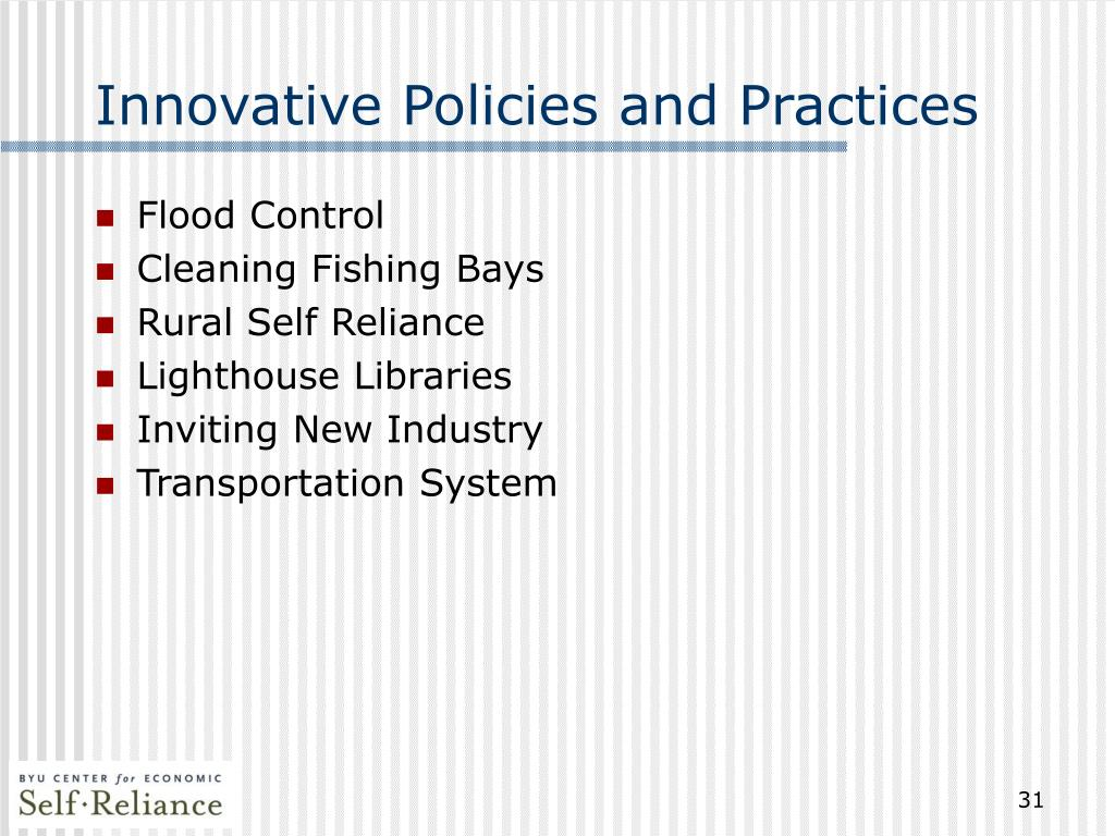 Innovative Policies and Practices