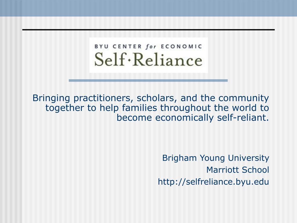 Bringing practitioners, scholars, and the community together to help families throughout the world to become economically self-reliant.