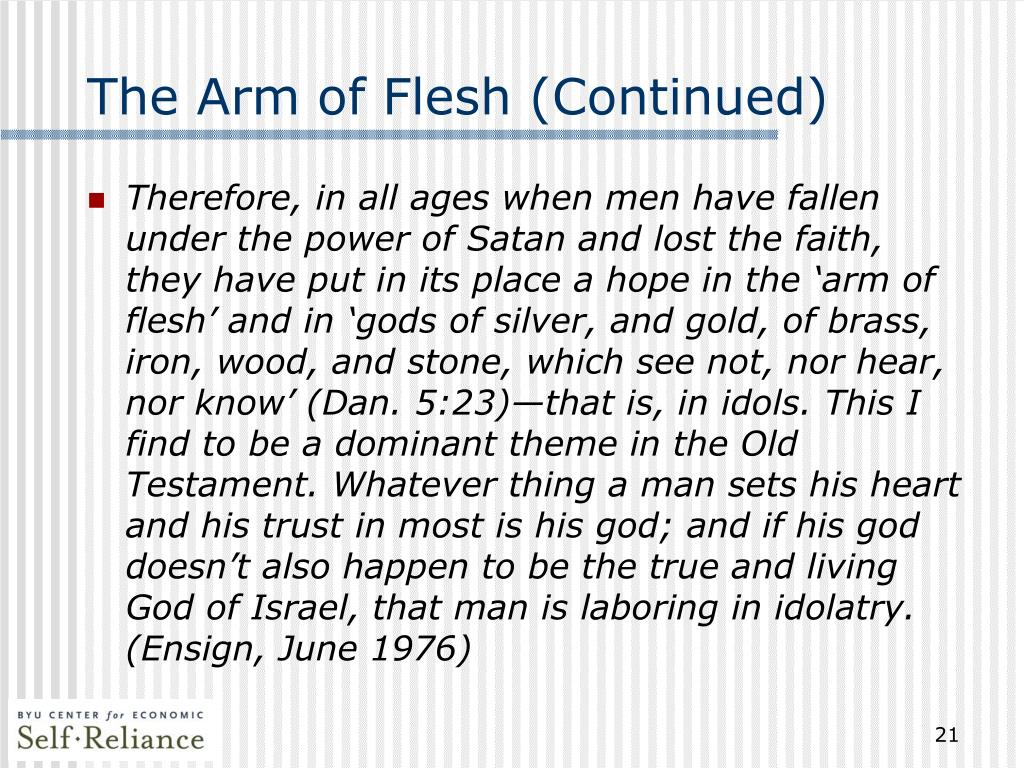 The Arm of Flesh (Continued)